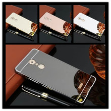 For Lenovo K6 note phone Case Fashion Luxury Protective Gold Aluminum Mirror Back Cover Case For Lenovo K6 note Case 5.5 inch lenovo k6 note
