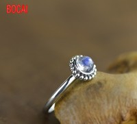 925 Silver Natural Moonstone Ring all match lady Sterling Silver Ring