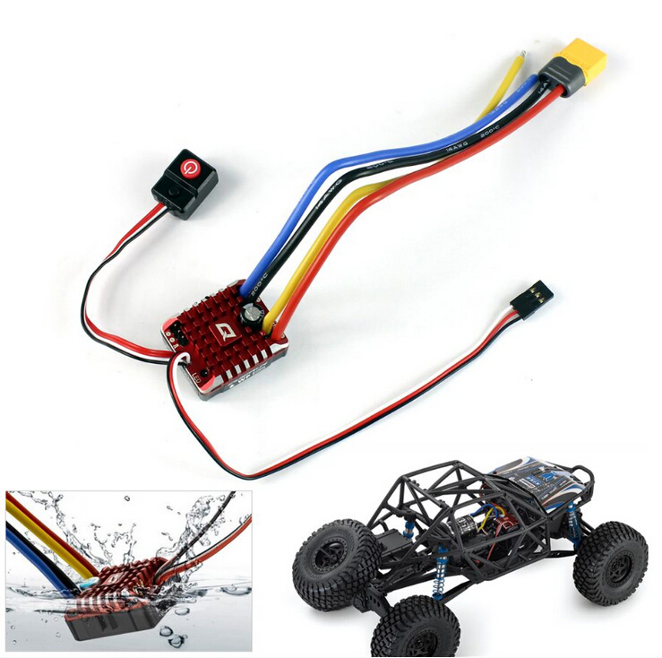 Hobbywing QuicRun WP Crawler Whaterproof Brushed ESC Build-in BEC 2-3S Lipo With LED Programing Card for 1/10 1/8 RC Car F19396 hobbywing quicrun wp 1080 crawler waterproof brushed esc build in bec 2 3s lipo with led programing card for 1 10 1 8 rc car