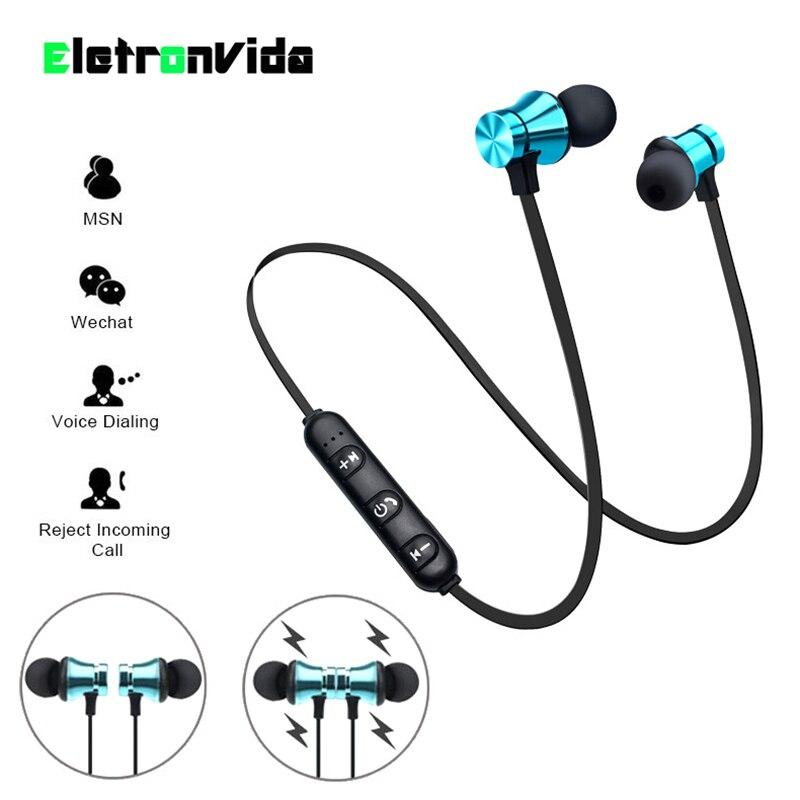 Magnetic Attraction Bluetooth Earphone Waterproof Sport Headphone 4.2 with Build-in Mic Headphone Bluetooth Headset Hands free magnetic attraction bluetooth earphone headset waterproof sports 4.2