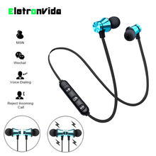 Magnetic Attraction Bluetooth Earphone Waterproof Sport Headphone 4.2 with Build-in Mic Headset Hands free