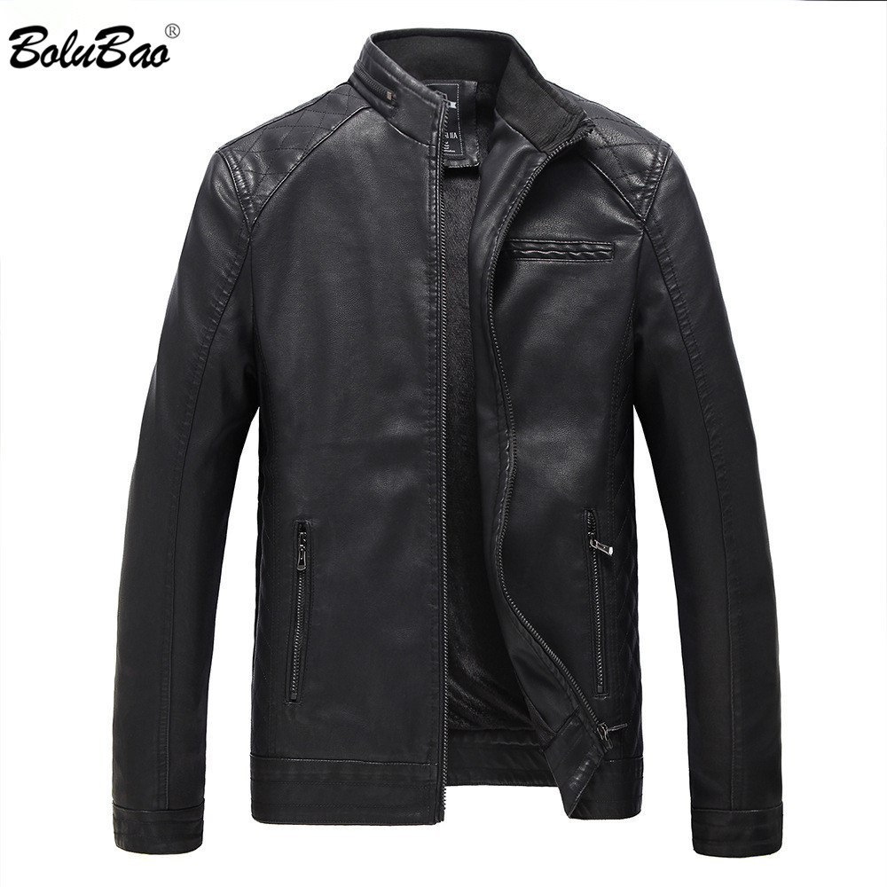 BOLUBAO Brand Men Leather Suede Jackets Autumn Winter Men PU Leather Jackets Clothing Male Casual Leather Jackets Coats