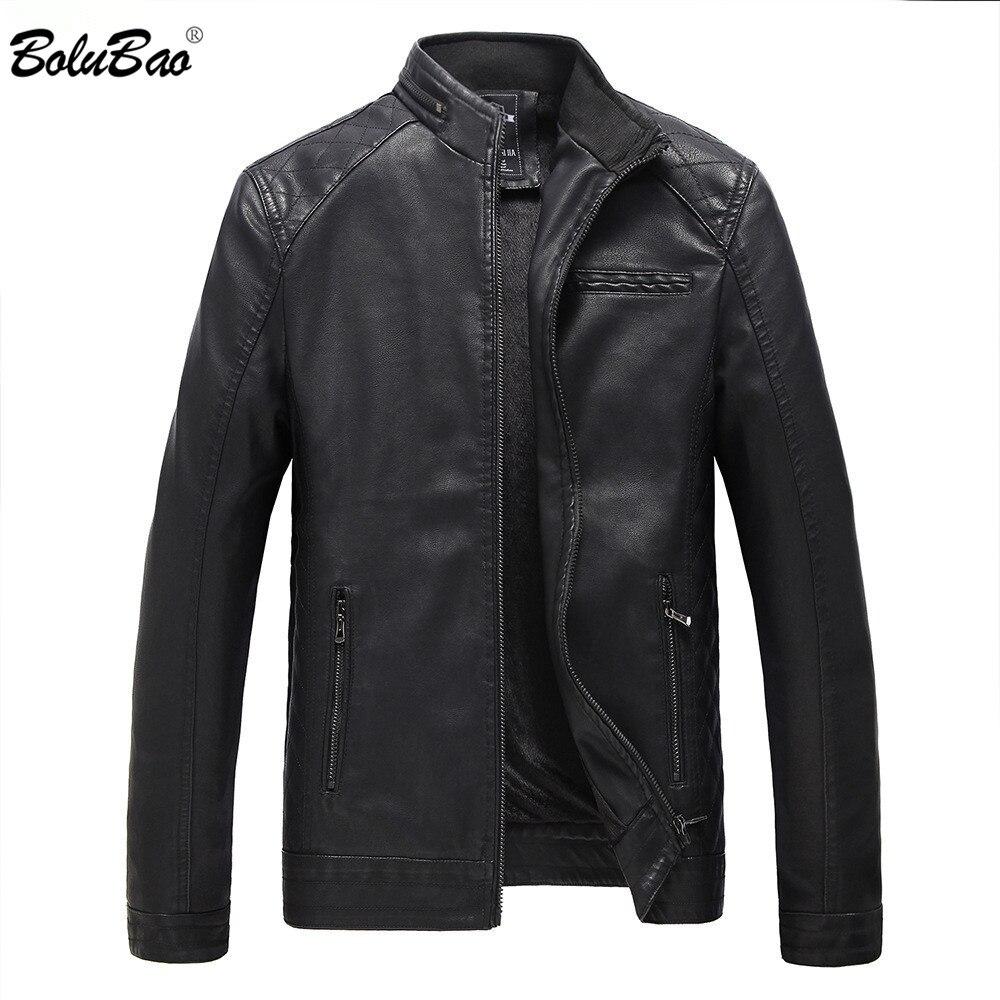 BOLUBAO Marque Moto Vestes En Daim Hommes Automne et D'hiver En Cuir Vêtements Hommes En Cuir Vestes Casual Male Manteaux