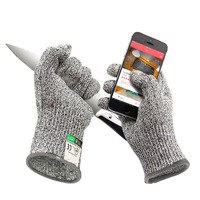 HPPE Cutting Gloves Kitchen Woodworking Gloves Knife Self Defense Anti Knife Gloves For Gardening Workplace