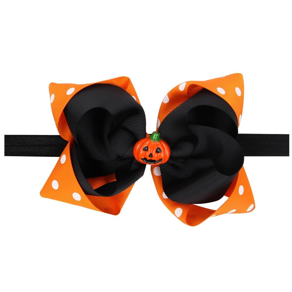 naturalwell girl pumpkin personalized outfit headband halloween