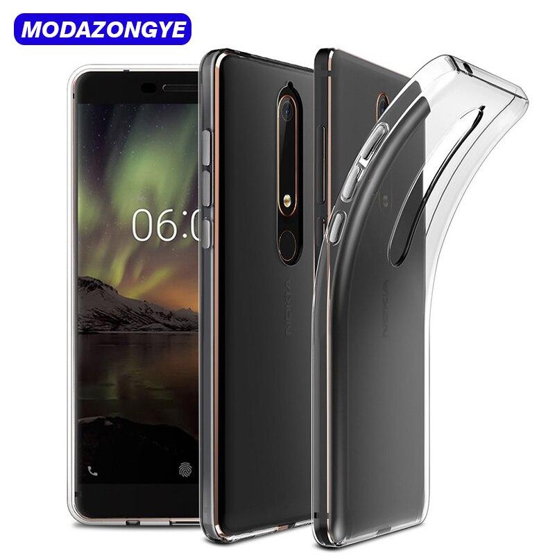 Nokia 6 2018 Case Nokia 6.1 Case Clear Soft Silicone Back Cover Phone Case For Nokia 6 2018 TA-1068 TA-1050 TA-1043 TA-1045 Case
