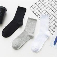 Unisex Solid Color Men Socks 100 Cotton Harajuku Colorful Mi