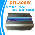 Op Grid Tie Inverter 600 w 18 v DC Input 220 v AC Output met MPPT Functie 99% Efficiency Pure sinus voor Zonne-energie Systemen