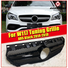 W117 CLA45 Look grille grill ABS Glossy Black Without Sign For Mercedes Benz CLA class CLA180 200 250 sport Front grills 2014-18