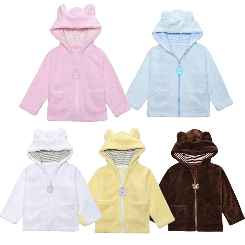 baby Girl Boy Winter Jackets Warm Fleece Coat Children Jacket Bear Ear Hooded Outerwear Kids Jacket For Girls And Boy Clothing