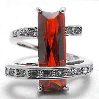 ร้อนขายจัดส่งฟรี********โนเบิลBIJOUX ARGENTคริสตัลสีแดงแหวน