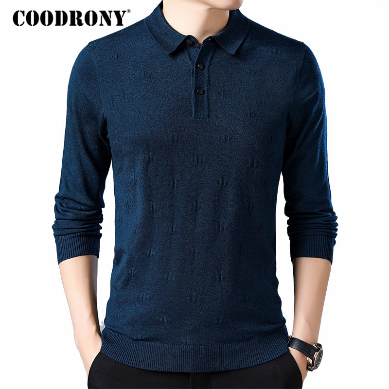 COODRONY Brand Sweater Men Clothes 2019 New Autumn Winter Knitwear Pull Homme Wool Sweaters Streetwear Casual Pullover Men 91047