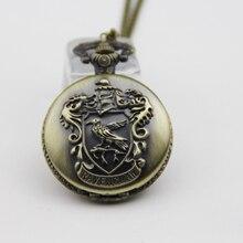 Модные ювелирные изделия винтажный Шарм Поттер Ravenclaw кварцевые карманные часы ожерелье для мужчин женщин детей подарок