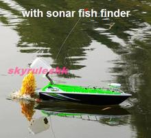Hot RC bait Boat remote control Fish boat with wireless sonar fish finder Skyrules F2SN Towing hook Head light ship with sonar