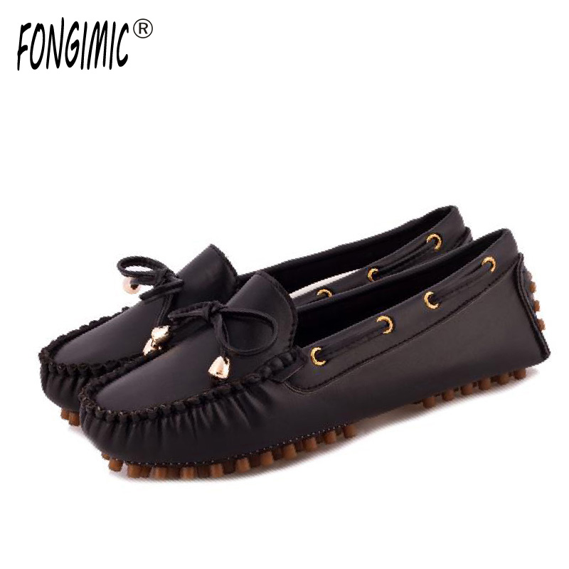 Fongimic Women Casual Flats Fashion Style 5 Colors Shoes Round Toe Summer Time Slip-on Shoses Solid Comfortable Wear Lazy Flat 2017 shoes women med heels tassel slip on women pumps solid round toe high quality loafers preppy style lady casual shoes 17
