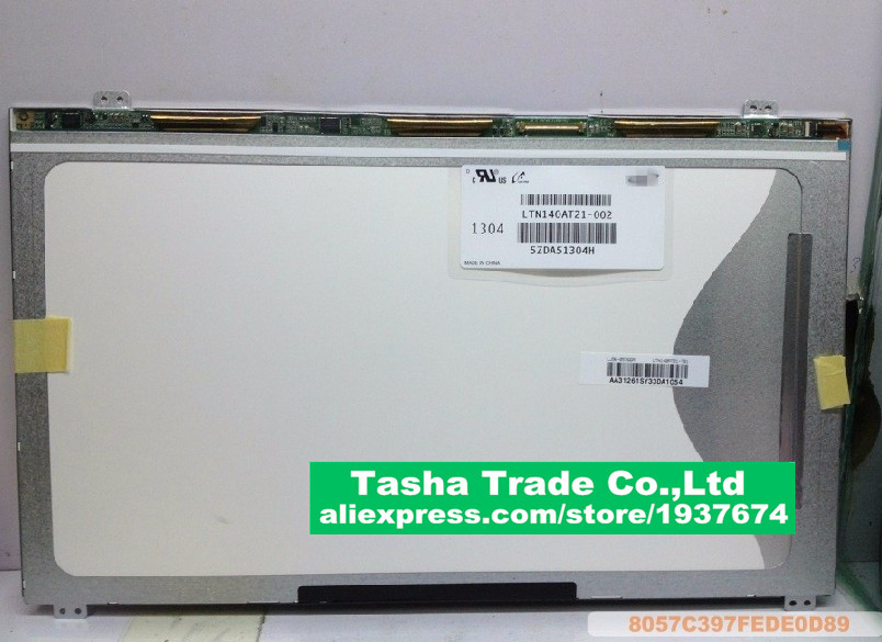 все цены на  For Samsung 300E4A SF410 Q470 305V4A LCD Display Screen LTN140AT21-002 LCD Screen Display 1366*768 UP&DOWN Screw Holes New  онлайн