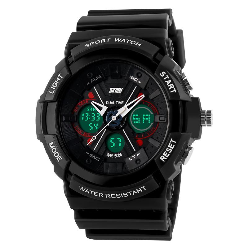 Prix pour Nouveau s choc montre skmei électronique led numérique montres hommes armée militaire montres homme garçons étanche sport montres