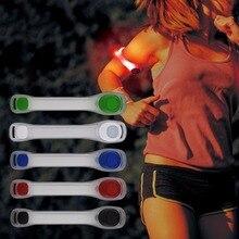 Продаже повязку светоотражающие ночь пояса ремешок рука бег горячий велоспорт безопасности