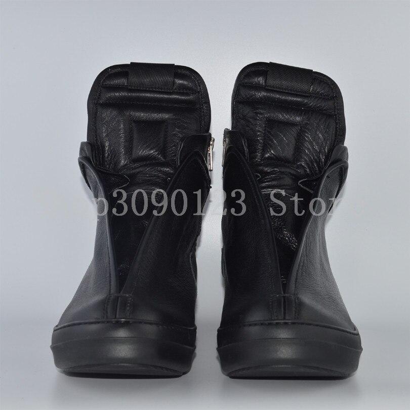 Owen Seak Mulheres Sapatos de Couro Genuíno de Alta TOP Botas de Tornozelo  Da Sapatilha Formadores De Luxo Lace up Flats Sapatos Casuais preto Tamanho  ... 4d81fa495d2