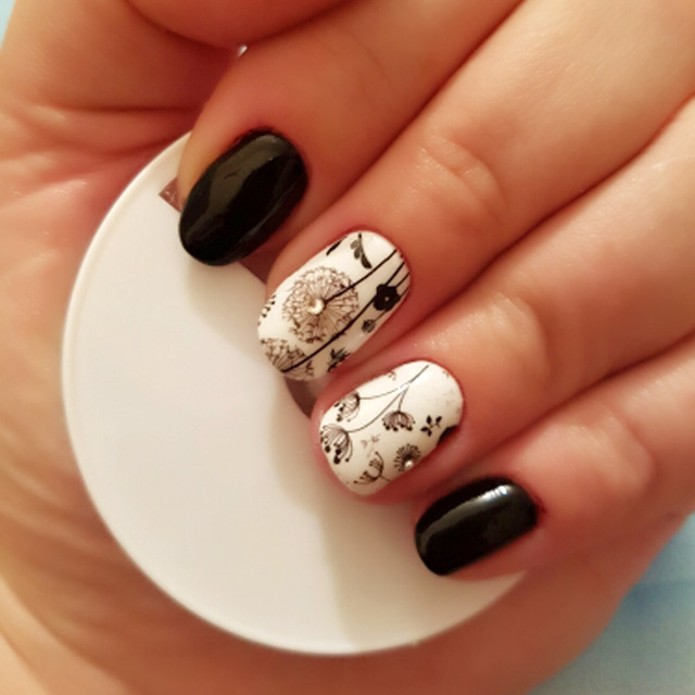 Flower Water Transfer Nail Stickers