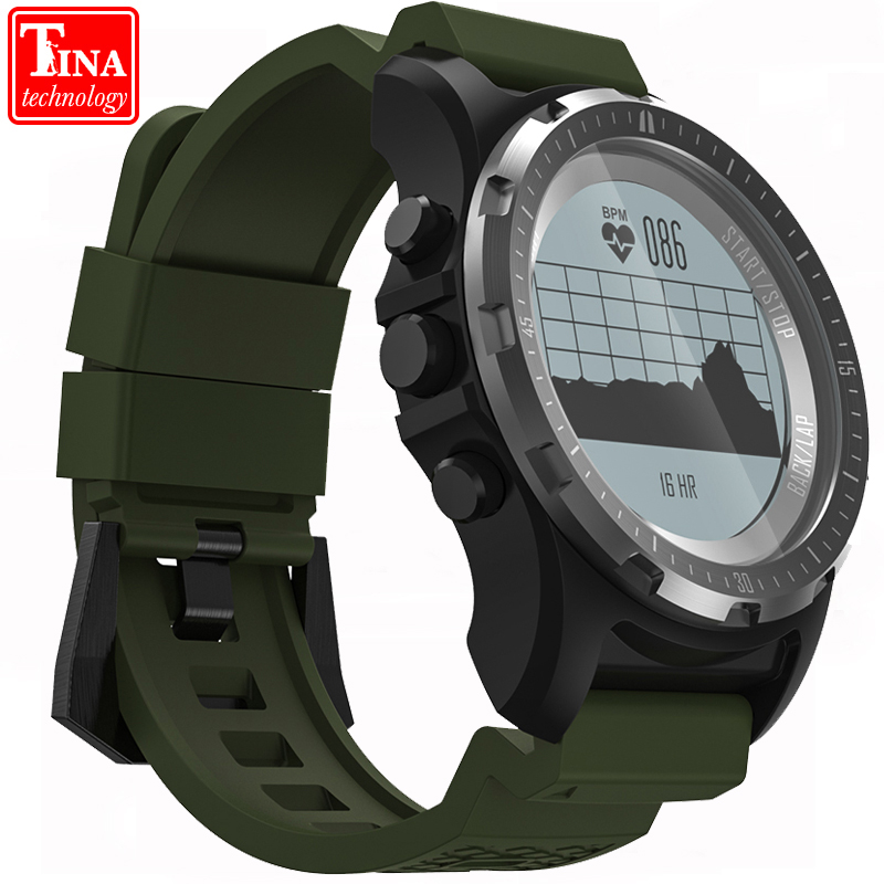 New S966 Smart Watch Men GPS Heart Rate Monitor Fitness Tracker Wristwatch Air Pressure Temperature Compass