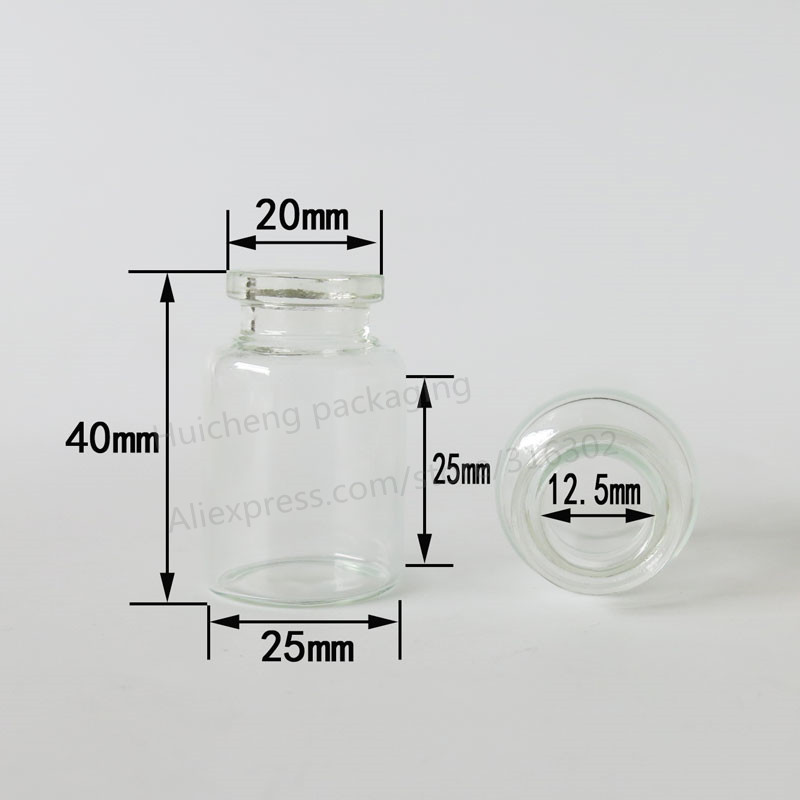 Image 4 - Empty 10ML Clear Injection Glass Vial with Plastic Aluminium Cap 10CC Transparent Liquid Medicine Glass Containers-in Refillable Bottles from Beauty & Health