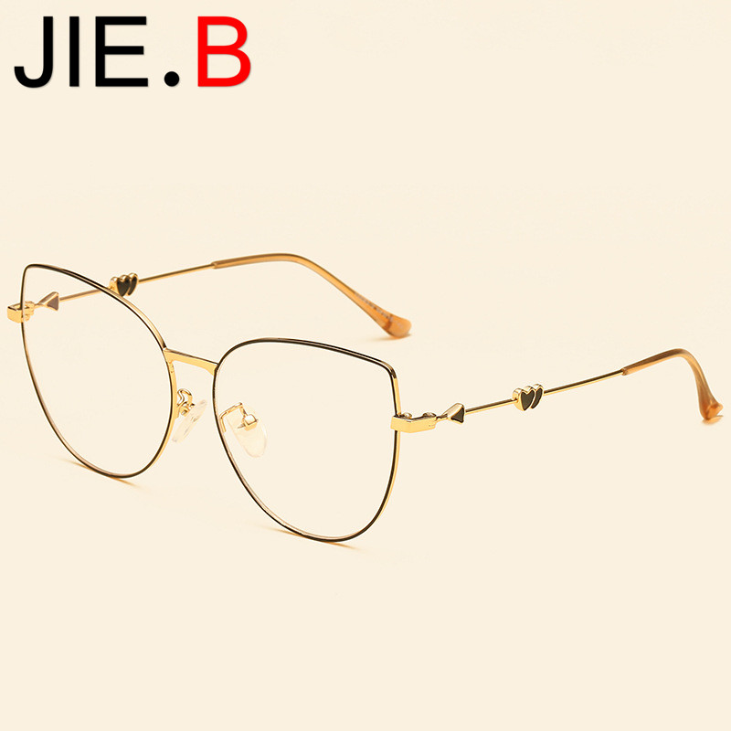 New big box cupid glasses frame retro metal myopia fashion literary