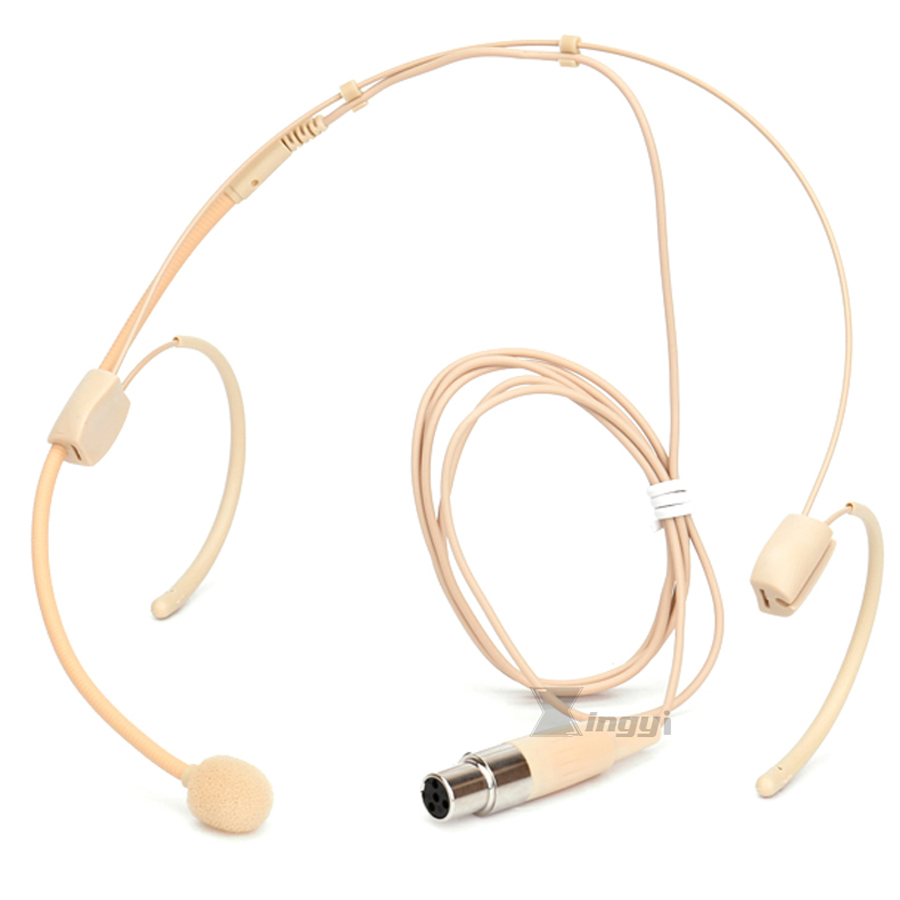 Dual-Earset Microphone for Shure Wireless//Beige color!!