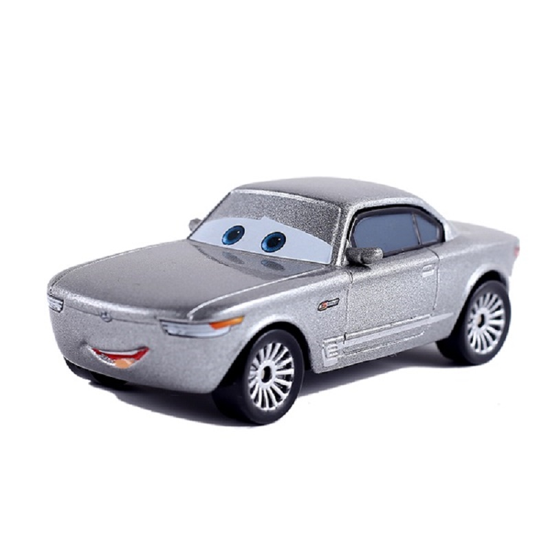 Disney Pixar Cars 3 Cars 2 Sterling Metal Diecast Toy Car 1:55 Lightning McQueen Loose Brand New In Stock & Free Shipping