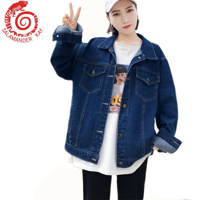 Korean Summer Denim Jeans Jacket Women Slim Ripped Holes Vintage Bomber Jackets Girls Basic Coats Woman Coat Plus Size Casacs