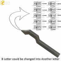 CSJA Ukraine Tryzub Steel Metal Jewelry Stamp Mold Bent Shank for Rings Bangles Jeweler Designer 925 750 585 999 990 Tool E861