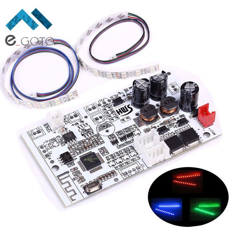 3 Вт Беспроводной аудио <font><b>Bluetooth</b></font> приемника стерео цифровой Усилители домашние модуль 12-36 В для вождения RGB Лампы для мотоциклов