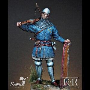 Image 2 - 1/24 Resina Personaggio Dei Cartoni Animati Modello di Guerra Antica Francese Balestra 75mm