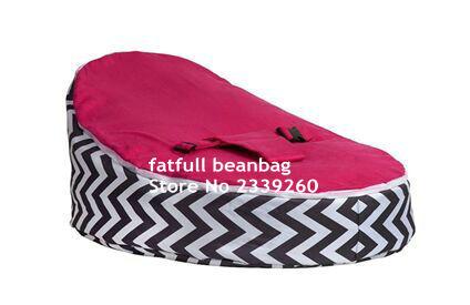 Roze Zitzak Stoel.Cover Alleen Geen Vullingen Zwart Chevron Met Warm Roze Seat Baby