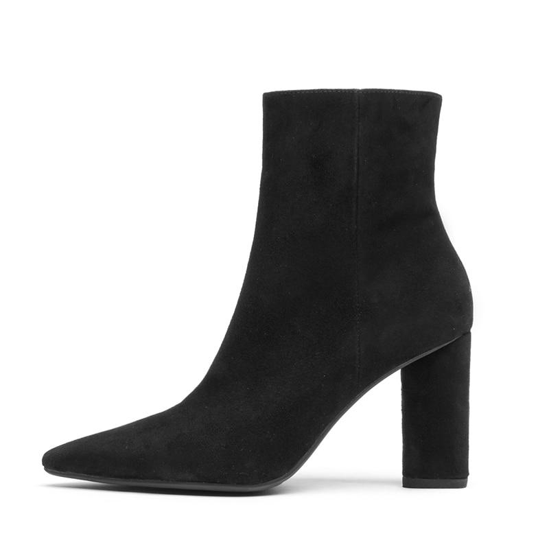 Gamuza Negro Invierno Zapatos Plush Alto Nuevo 2018 Fiesta Del Tacón Tobillo De Mujeres Mujer Wetkiss La Chico beige Negro black Dedo beige Botas Calzado Pie Short Bota Plush xZqT1Ctw