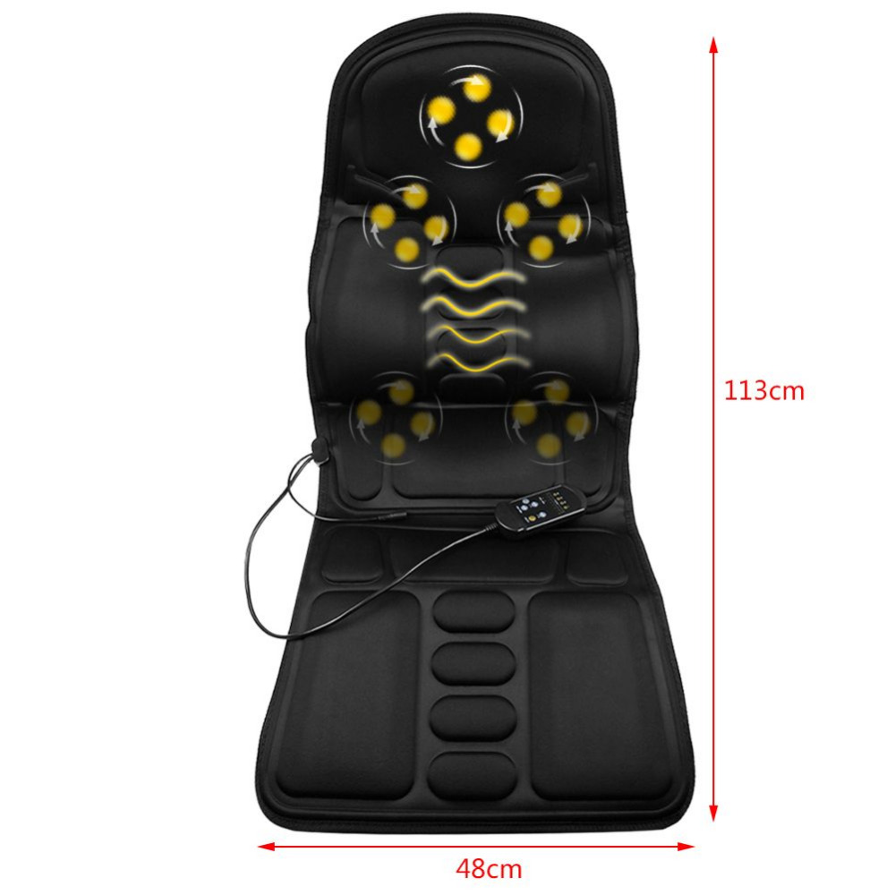 Massage Chair Cover Us 54 99 Sanheshun Heated Vibrate Chair Mat Cushion Massager Electric Neck Back Pain Lumbar Massage Car Seat Cover Relaxation In Massage