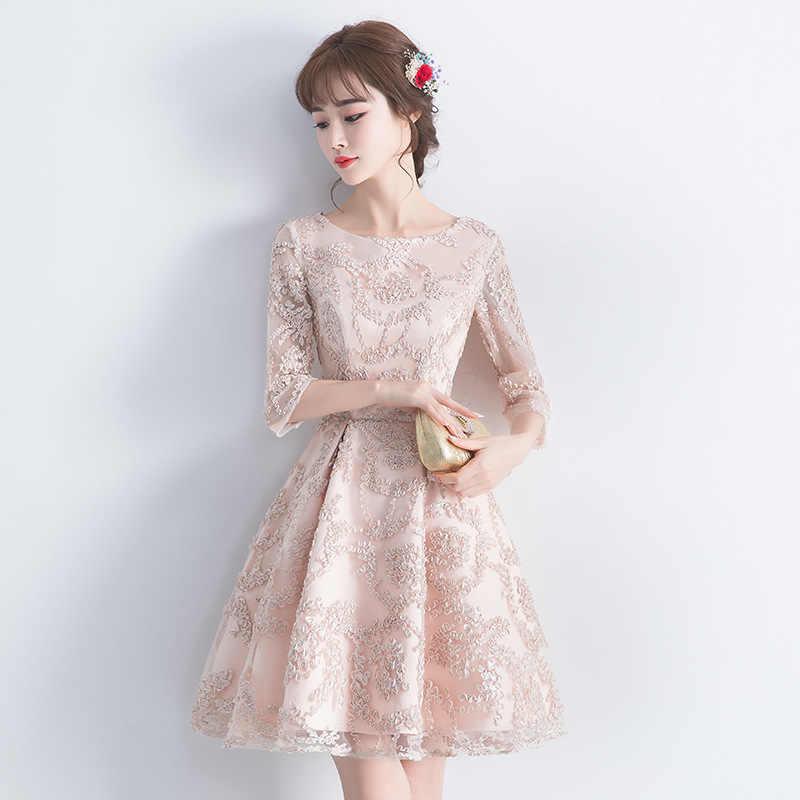 Şampanya Oryantal Tarzı Ziyafet Elbiseler Çin Vintage Geleneksel Düğün Cheongsam Zarif Akşam Partisi Törenlerinde Boyutu XS-3XL