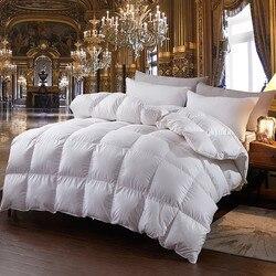 100% белое одеяло на гусином пуху для зимы и осени, пуховое одеяло с вкладышами, пуховое одеяло, одеяло, King queen, двойной размер