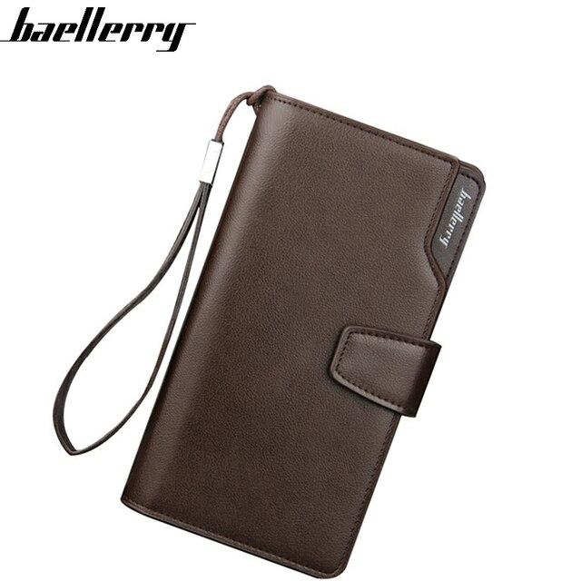 cd2212b3e949 US $8.08 29% OFF|Baellerry Top Quality Men Wallets Brand Purse Long style  Male Clutch Leather Zipper Wallet Men Business Male Wallet Coin bag -in ...