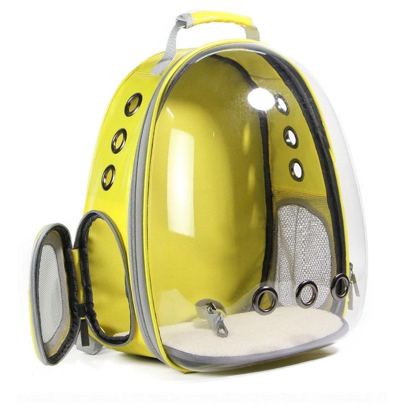 2019ペットキャットバックパックメッシュ通気性子犬キャリア透明デザイン屋外旅行バッグ用チワワ小型犬猫キャリア猫バックパック