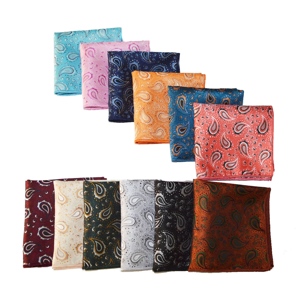 Men  High Quality Paisley Hanky Handkerchief Wedding Business Pocket Square BWTYX0501