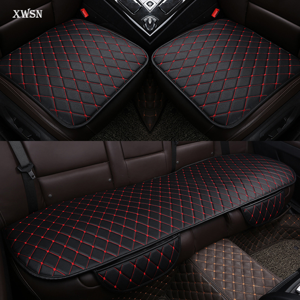 Artificial leather universal car seat cushion for seat ibiza leon 2 fr altea ateca car seat cover car accessories fr metal car stickers emblem badge for seat leon 2 fr cupra ibiza altea exeo formula racing car accessories car styling