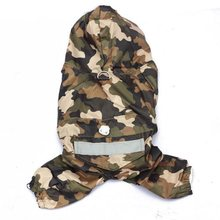 New Dog Raincoat Jacket Camouflage Cloak For Dogs Rain Coat Waterproof Puppy Pet Costumes XS-XXL(China)