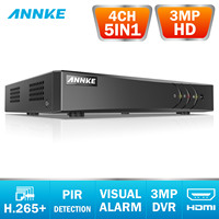 ANNKE 4CH 3MP 5in1 HD TVI CVI AHD IP Security DVR Recorder H.265 Digital Video Recorder With Smart Motion Detection Playback