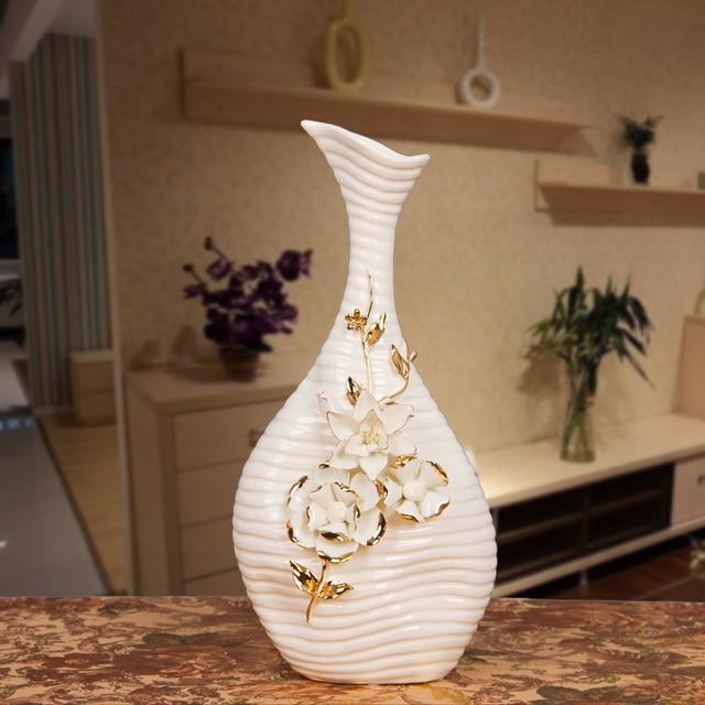 Latest Porcelain Abstract Long Neck Vase Ornamental Ceramics Flask