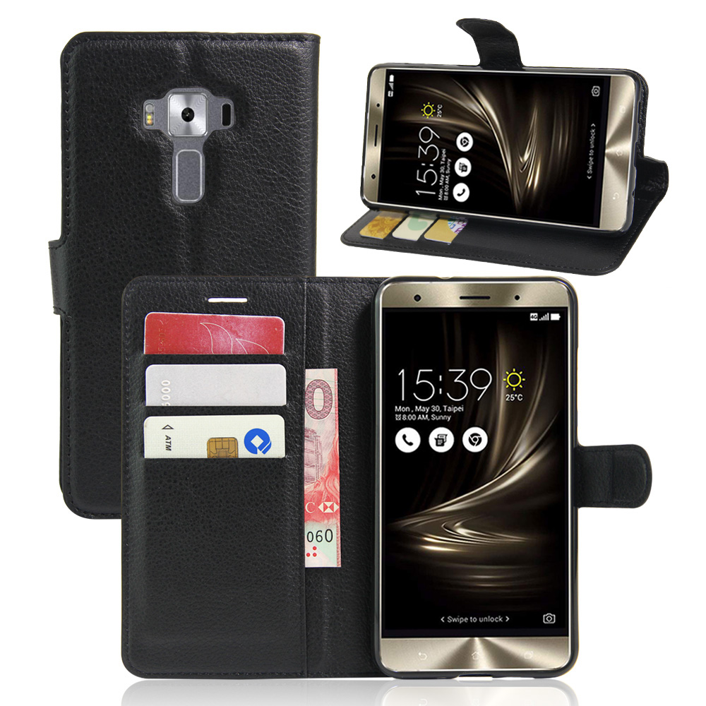 uk availability c1c9b 403a9 YINGHUI For Asus Zenfone 3 Deluxe ZS550KL Case PU Leather Protective Back  Cover Flip Case For Asus Zenfone 3 ZS550kl 5.5