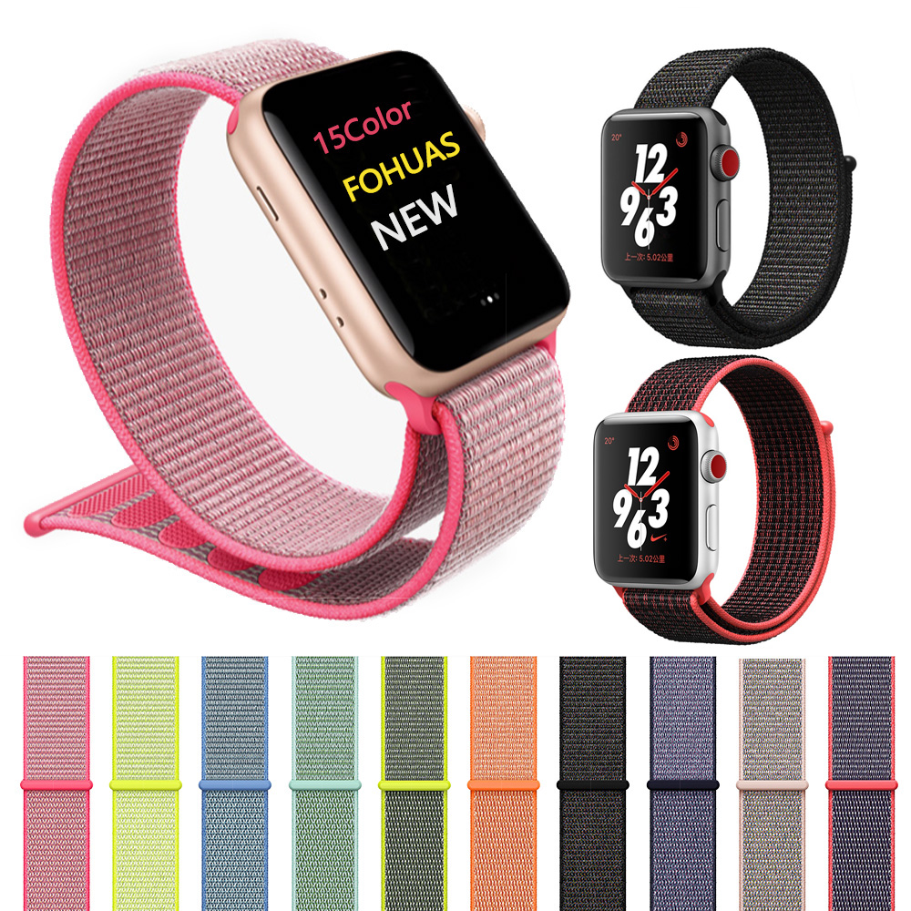 Hot Sale Watchbands For Apple Watch Band Strap 42mm 38mm Woven Nylon Iwatch 3/2/1 Wristband Bracelet Lightweight Breathable Belt