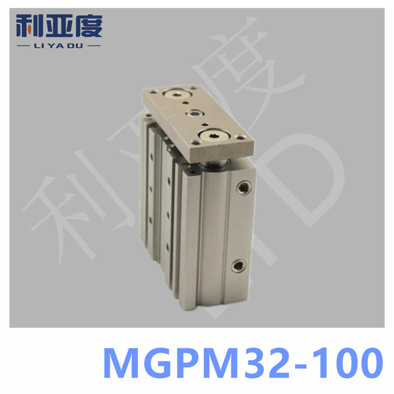 SMC Type MGPM32-100 Thin cylinder with rod MGPM 32-100 Three axis three bar MGPM32*100 Pneumatic components MGPM32X100 tu0425bu 100 tu0604bu 100 tu0805bu 100 tu1065bu 100 tu1208bu 100 smc pneumatic blue air hose hose length 100m