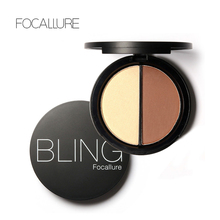 New Makeup Blush Bronzer &Highlighter 2 Diff Color Concealer Bronzer Palette Comestic Make Up by Focallure