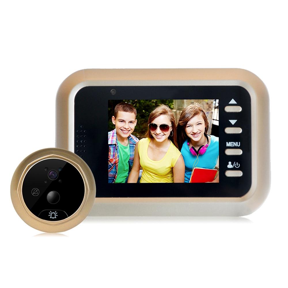 2 4 Inch Doorbell Viewer Digital Door Wireless Video Peephole Camera IR Night Vision Motion Sensor